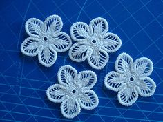 Romanian Point Lace Flowers
