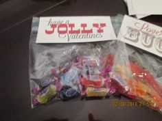 Little candy gifts with the link to original poster with printables.