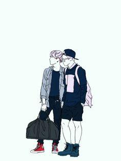 BTS YoonMin Wallpaper - Credits to owner/artist