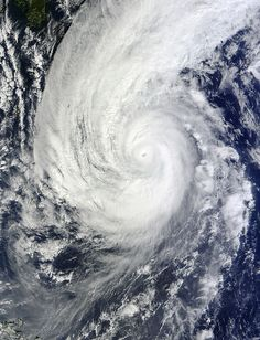 NASA's Terra satellite captured this image of Super Typhoon Nuri as clouds moved into its eye. Nuri is passing to the west of Iwo To and is expected to move to the northeast and parallel the big island of Japan over the next couple of days while weakening. Within two days the storm is expected to weaken just below hurricane-force.