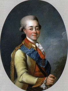 Portrait of Pavel Petrovich a.k.a Paul I of Russia (1754-1801), painted by Dmitry Grigorievich Levitzky in 1780
