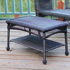 Espresso Wicker Patio Furniture Coffee Table