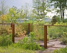 Dutchess County Contemporary Barn - industrial - Landscape - New York - Wagner Hodgson Backyard Fences, Garden Fencing, Outdoor Fencing, Patio Fence, Driveway Landscaping, Fence Design, Garden Design, Welded Wire Fence, Metal Fences