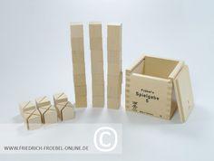 Spielgabe 5 von Froebel mit den 39 Holzbausteinen