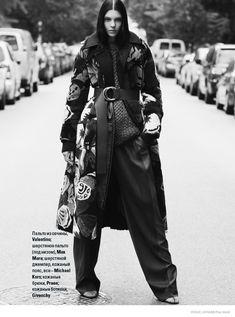 Kate Bogucharskaia Wears Fall Furs for Vogue Ukraine by Paul Morel