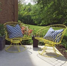 Mid Century Homecrest Patio Chairs Before After Www Theanatomyofdesign