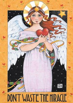 Mary Engelbreit print Christmas Angel Miracle Jesus by Treehouse58