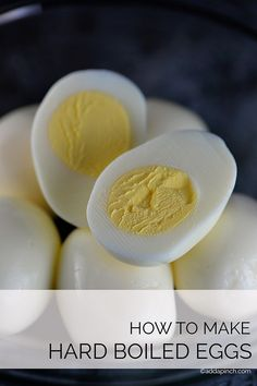Hard boiled eggs have so many uses from appetizers, salads, snacks, or dying for Easter. This simple method makes perfect hard boiled eggs every time. // addapinch.com