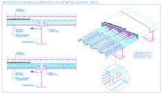 Composite floor deck to steel frame connection Steel Deck, Steel Stairs, Steel Columns, Steel Beams, Floor Slab, Metal Floor, Industrial Architecture, Architecture Details, Autocad