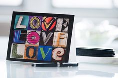 """Notecards featuring """"LOVE"""" in letters from photos of actual signs :-) #notecards #letters #typography #design #stationery"""