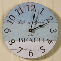 beach inspired clocks | Decorating with a Nautical & Beach Theme at SYW | Shoptalk by ...