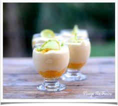 Mousse de mangue aussi légère qu'une plume…. Panna Cotta, Pudding, Ethnic Recipes, Desserts, Food, Mango Mousse, Exotic, Cloud, Feather