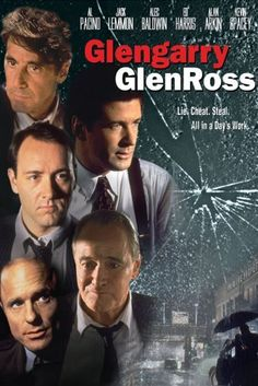 Glengarry GlenRoss. A riveting tale of desperation and betrayal based on David Mamet's Pulitzer Prize-winning play. Al Pacino, Jack Lemmon, Alec Baldwin, Ed Harris, and Kevin Spacey shine in this powerful story set in the world of real estate. Amazon Affiliate Link.