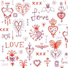 Valentines day pattern. By Laurence Lavallee aka Flo www.akaflo.com