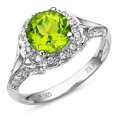 A Peridot engagement ring based from Once Upon a Time's Snow White's engagement ring