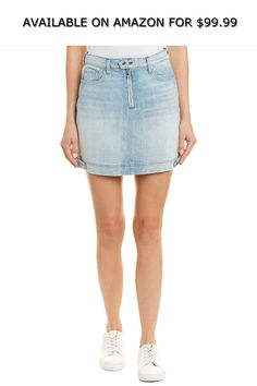 f557199c71 Seven for All Mankind Womens Moto Vintage Mini Skirt, 28, Blue ◇ AVAILABLE  ON