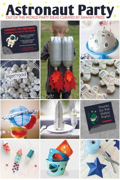 Astronaut in Space Party Inspiration - Party - Weltraum / Astronaut - Birthday Alien Party, Astronaut Party, Astronaut Birthday Party Ideas, Astronaut Costume, Outer Space Party, Outer Space Theme, Festa Hot Wheels, Party World, Festa Toy Story