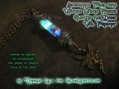 Steampunk Fairy Glow Vial Pendant by MoniqueLula on Etsy, $28.00