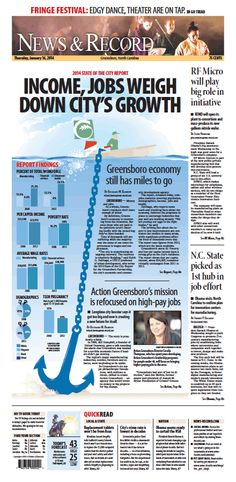 Front page Jan. 16, 2014 news-record.com