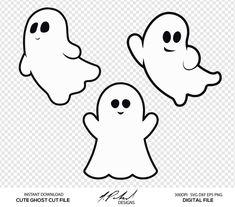 Dulceros Halloween, Moldes Halloween, Adornos Halloween, Halloween Drawings, Holidays Halloween, Halloween Templates, Ghost Template, Png Vector, Imprimibles Halloween