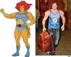 14 People Who Look Exactly Like Cartoon Characters - Lion-o and Carrot Top