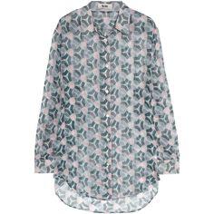 Acne Patti printed silk-chiffon shirt ($140) ❤ liked on Polyvore