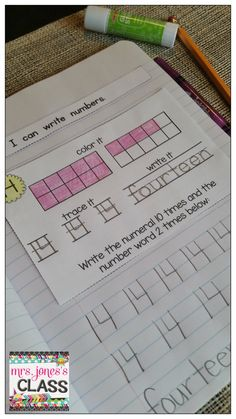 Interactive Math Notebook for FIRST GRADE! Unit 1: Counting and Writing Numbers -- Daily entries for a month! This will be a great warm up for our daily lesson or for morning work. $