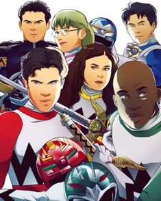 Power Rangers Lost Galaxy, Power Rangers Art, Galaxy Comics, American Series, Would You Rather, Animation Series, Book Series, Comic Books, Japanese
