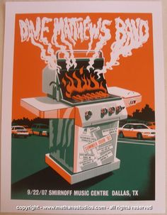 2007 Dave Matthews Band - Dallas Concert Poster by Methane
