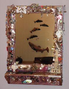 assemblage - memory mirror memory art
