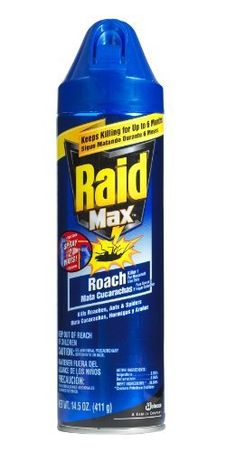 Raid Max Roach & Ant, 14.5-Ounce Cans (Pack of 6) by Raid. $40.87. Kill instantly and works for up to 30 weeks. Pack of six, 14.5-ounce can (total of 87-ounce). Provides relief from even the heaviest infestations of roaches and ants. Raid Max Roach & Ant provides relief from even the heaviest infestations of roaches and ants for up to 30 weeks. It kills instantly. Also, it kills resistant roaches those immune to ordinary insecticide. Contains Cylathrin. Spray around baseboards, ... Roach Killer, Get Rid Of Ants, 30 Weeks, Roaches, Garden Pests, Pest Control, It Works, Baseboards, Products