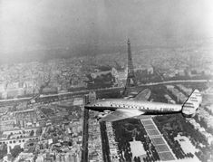 A TWA Lockheed Contellation flies over Paris in this undated photo. Click on to see photos from the TWA museum and from the history of TWA. Photo: Keystone, Getty Images / Hulton Archive