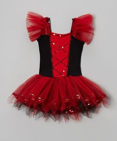 This Red & Black Sequin Ballet Dress - Infant, Toddler & Girls by Wenchoice is perfect! #zulilyfinds