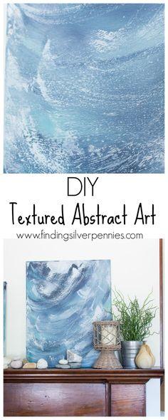 DIY Textured Abstract Art