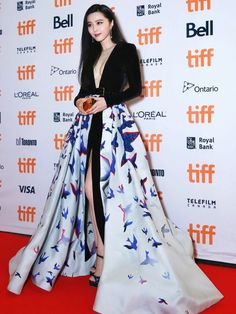 """Fan Bingbing in Elie Saab Couture attends """"I Am Not Madame Bovary"""" premiere…"""