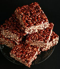 Puffed Wheat Squares | Celebration Generation: Food, Life, Kitties! These are a little bit firm once cooled, but they have excellent flavor!