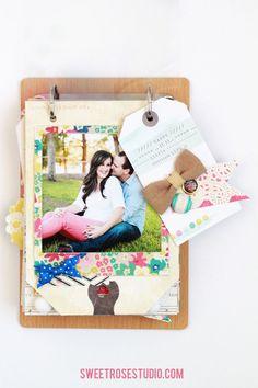 Family Photo Flip Book at Sweet Rose Studio #AmericanCrafts #CratePaper #Pebbles #StudioCalico