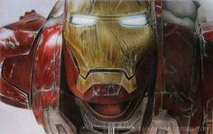 iron man by A-D-I--N-U-G-R-O-H-O.deviantart.com on @deviantART - colored pencils