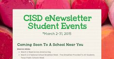 Check out our updated CISD eNewsletter - Student Events Coming Soon To A School Near You