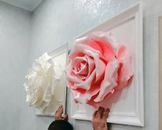 DIY Giant Paper Rose Pattern Templates and Tutorials, Garden Birthday Party Decor, Flower Wall, Printable PDF and SVG cut files Paper Flowers Roses, Paper Sunflowers, Paper Flowers Craft, Large Paper Flowers, Paper Flower Wall, Giant Paper Flowers, Flower Wall Decor, Flower Crafts, Fabric Flowers