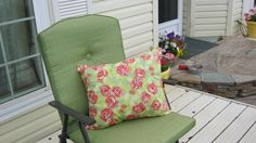 OUTDOOR CHAIR PILLOW by 12dozen on Etsy, $8.00