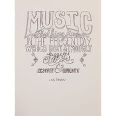 CS Lewis Music Quote Illustration by HardinStudios on Etsy