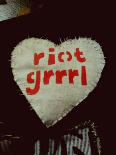 Riot Grrrl | Riot Grrrl Heart Shaped Patch by DIYdamage on Etsy
