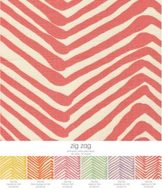 Six new colors of Alan Campbell Zig Zag.