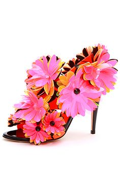 Nothing says spring like these Blumarine shoes.