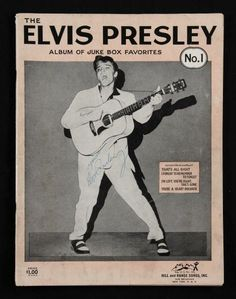 THE MOST UNUSUAL ELVIS ARTICLES  |  Autographed Book of Sheet Music:   $2,432 at auction | This Elvis song book was published by Hill and Range Songs Inc. in 1955. It contains the sheet music for fifteen Elvis songs, which must include a number of Sun recordings that weren't even released as singles at that time. So, the song book alone is a rare, valuable collectible, and Elvis' autograph makes it even better.