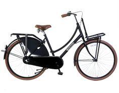 Transportfiets Daily Dutch Mat Zwart 28 Inch | bestel gemakkelijk online op Fietsen-verkoop.nl