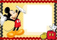 Mickey Mouse cards. Free printable Mickey Mouse birthday cards