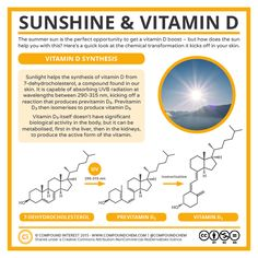 Summer sun is good for a vitamin D boost – but how does it actually help? Here's a quick look at the chemistry involved! Chemistry Classroom, Teaching Chemistry, Science Chemistry, Science Facts, Organic Chemistry, Life Science, Science And Nature, Food Science, Chemistry Lessons