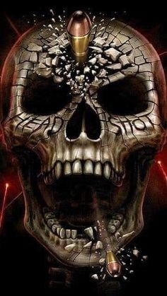 Arte Horror, Horror Art, Pirate Skull Tattoos, Angel Devil Tattoo, Badass Skulls, Skull Wallpaper, Snake Wallpaper, Wolf Wallpaper, Skull Pictures